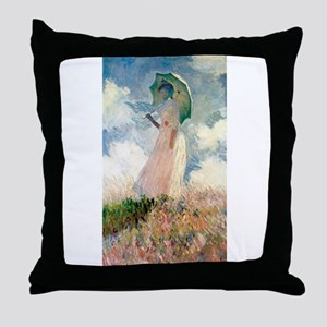 Claude Monet's Woman with a Parasol, Throw Pillow